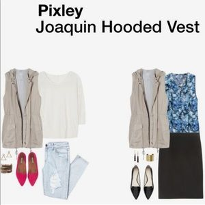 Pixley Stitch Fix Joaquin Hooded Cargo Vest Tan